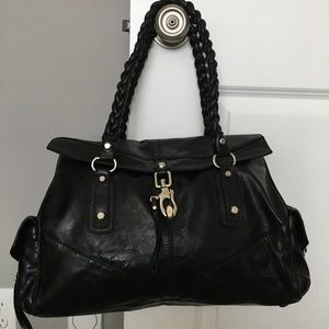 Francesco Biasia black leather handbag